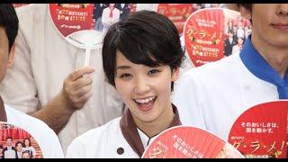 女優の剛力彩芽さんが16日、六本木ヒルズアリーナ(東京都港区) で行わ...