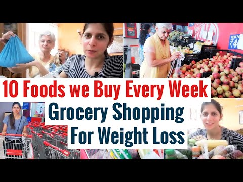 10 Foods we Buy Every Week For Weight Loss | Weekly Grocery Shopping to Lose Weight | Hindi