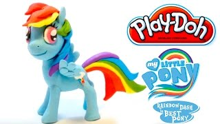 Little Pony Rainbow Dash stop motion animation claymation play doh