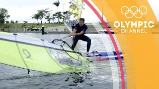 When an Olympic Sailor puts a Football Freestyler through a Workout | Hitting the Wall