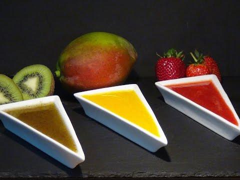 Receta Coulis de fresa, mango y kiwi - Recetas de cocina, paso a paso, tutorial