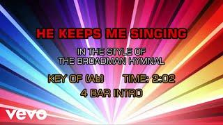 Gospel - Hymn - He Keeps Me Singing (Karaoke)