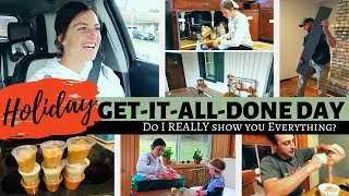 Holiday GET-IT-ALL-DONE Day! | Busy and Productive DITL of a Mennonite Mom