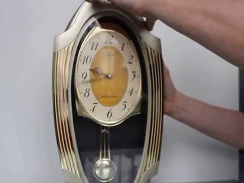 CITIZEN WALL TOP Clock 12 Chimes RARE Glass QHS265 A Oval Melody Chime
