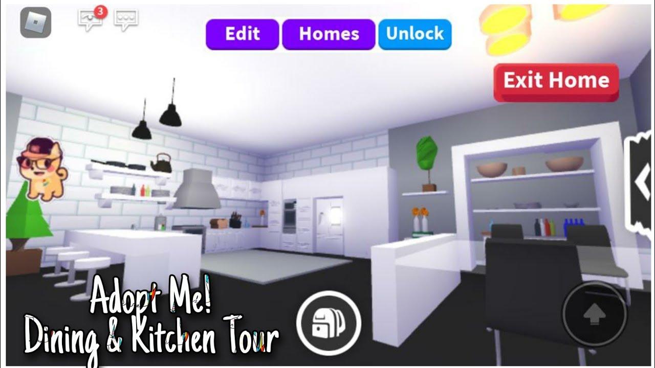 Roblox Adopt Me Modern Futuristic House Dining Kitchen Tour Youtube