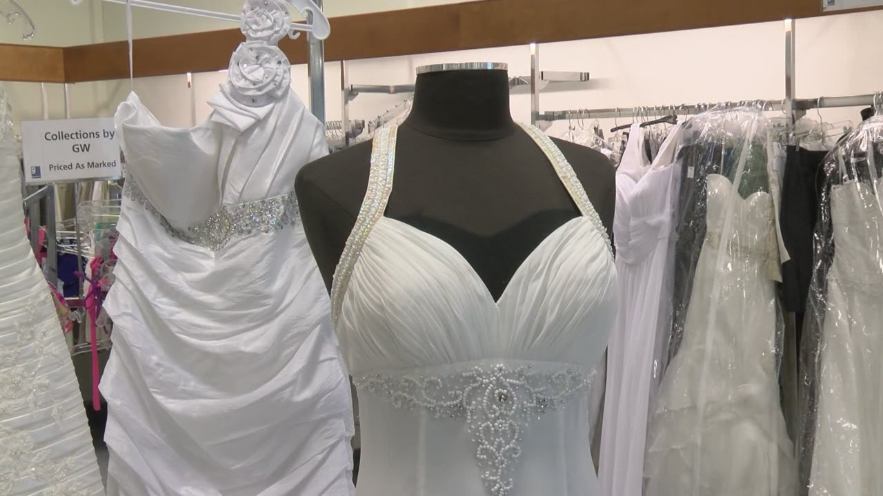 Goodwill bridal sale offers designer gowns for dirt cheap - YouTube