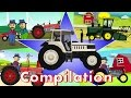 Tractor    Farm Work  Compilation    Bajki Kompilacja
