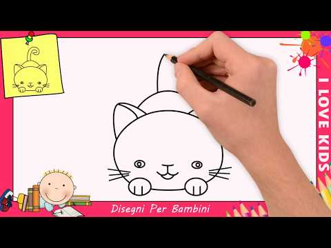 Come Disegnare Un Gatto Facile Passo Per Passo Per Bambini 6 Youtube