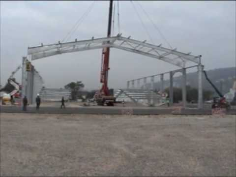 Bray construction m tallique charpente m tallique - Calcul d un hangar en charpente metallique ...
