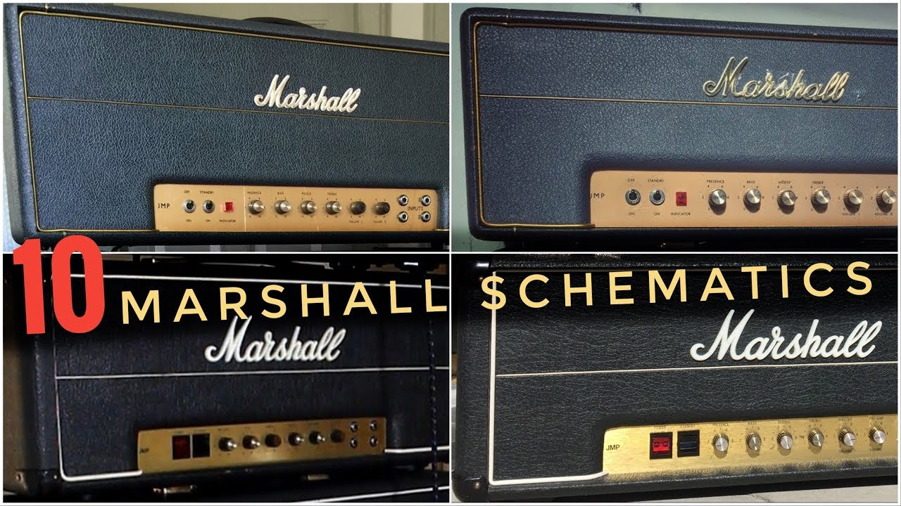 the 10 most classic marshall amp schematics are this similar  [ 1280 x 720 Pixel ]