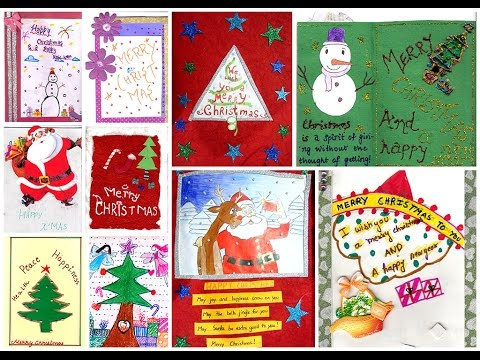 Handmade Christmas Cards, by students of DPS, Bangalore South