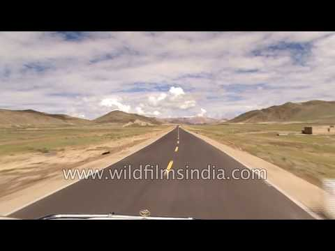 Road journey from Mansarovar to Dongma, Tibet autonomous region of China