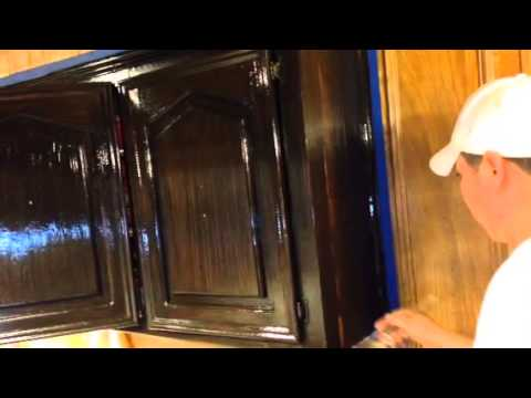 Old Masters Gel Stain Glazing Kirchen Cabinets Youtube