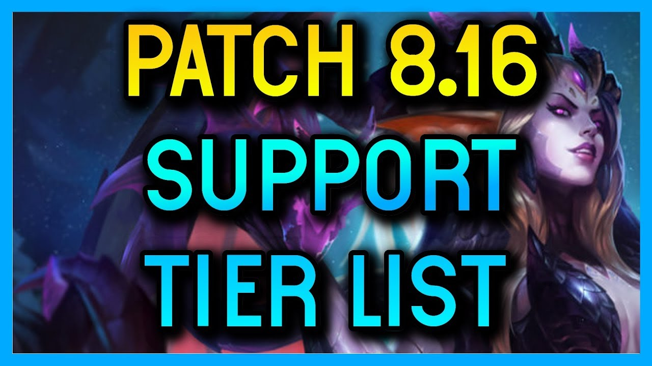 PATCH 8.16 TIER LIST FOR SUPPORT - League of Legends