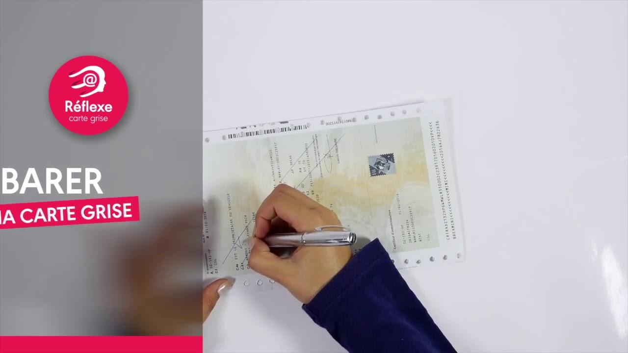comment barrer une carte grise reflexe carte grise