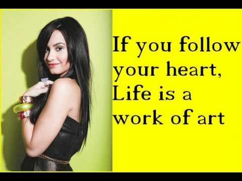 Work of art Demi Lovato Lyrics