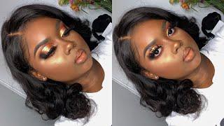 GRWM Bronzy GLAM Makeup Tutorial  | My Hair Quality