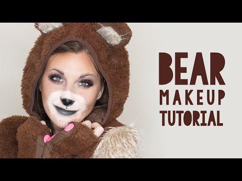 Cute Bear Makeup Tutorial for Halloween Wonder Forest - Sweet Halloween Makeup
