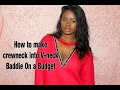 How to turn crewneck into Vneck | Baddie on a budget ( no sew)