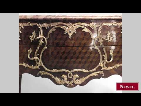 Antique French Louis XV style (19th Cent) inlaid parquetry