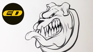 Drawing A Bulldog - Easy Drawings