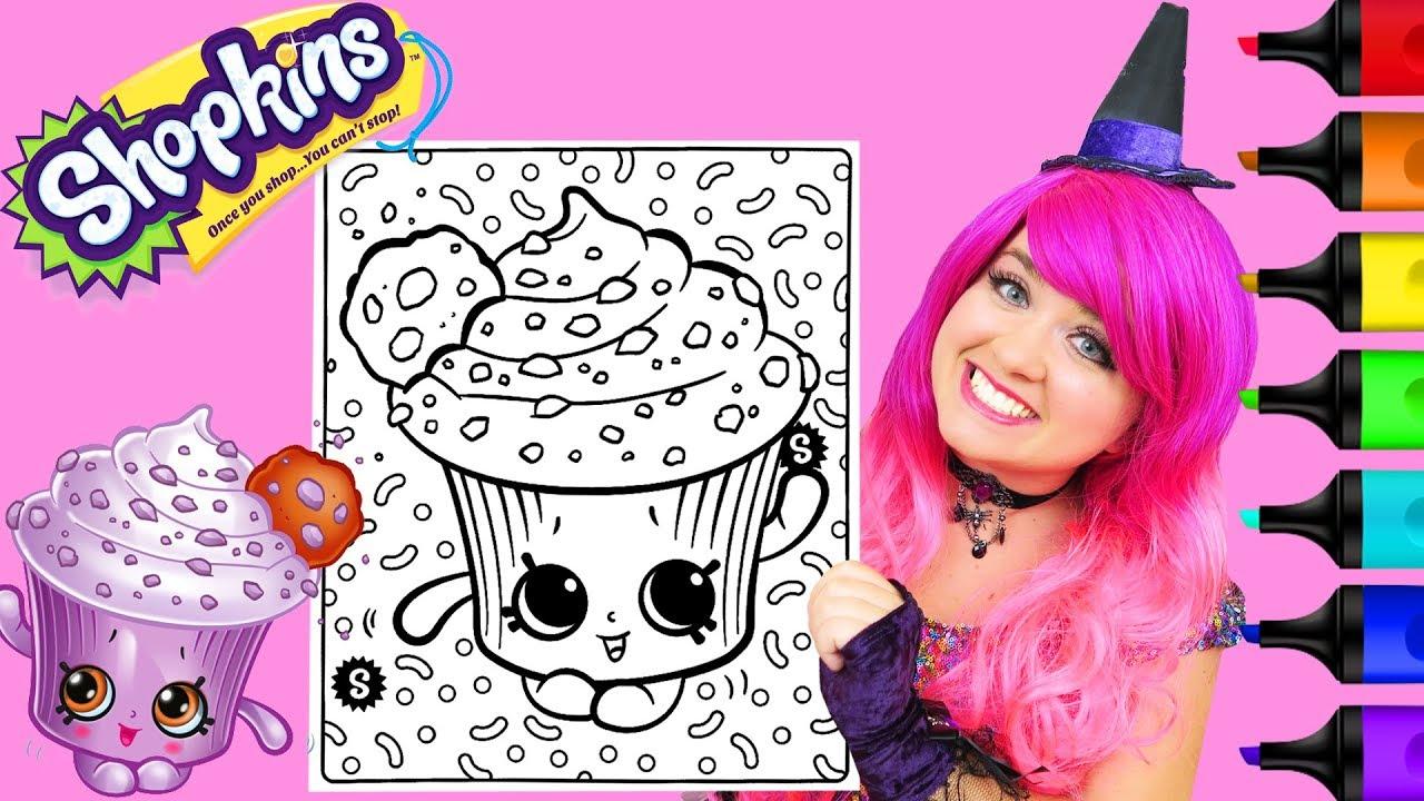 Coloring Shopkins Creamy Cookie Cupcake Coloring Page Prismacolor ...