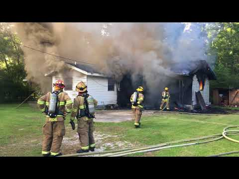Watch fire destroy house on U.S. 190 East in Slidell area