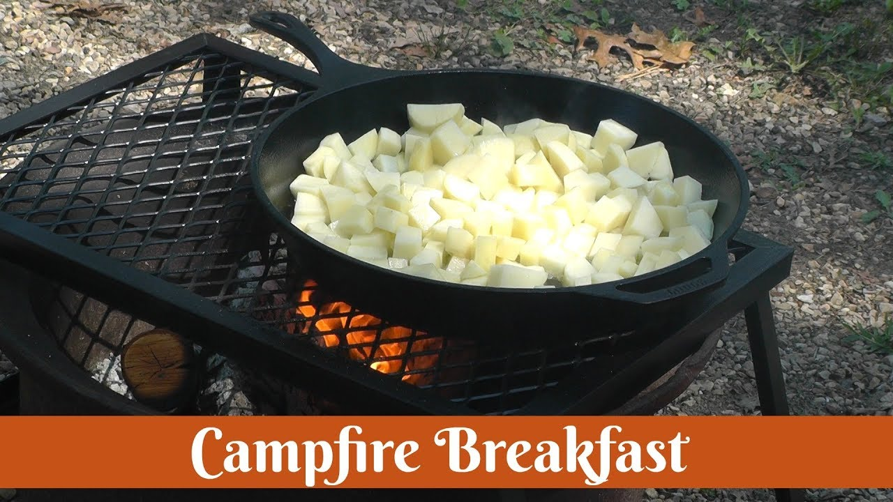 Cast Iron Campfire Breakfast Best Camping Recipe Camp Cooking