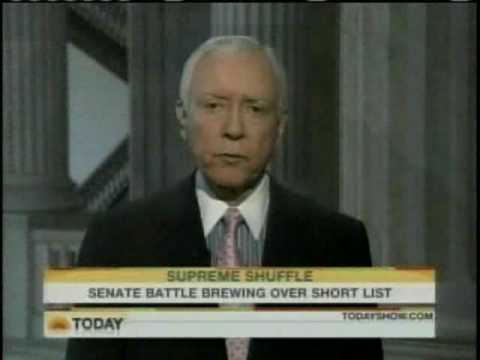 Pat Leahy Faces Off Wth Orrin Hatch