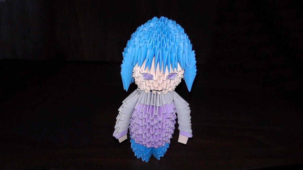 3d origami hinata hyuga tutorial people doll girl youtube jeuxipadfo Choice Image