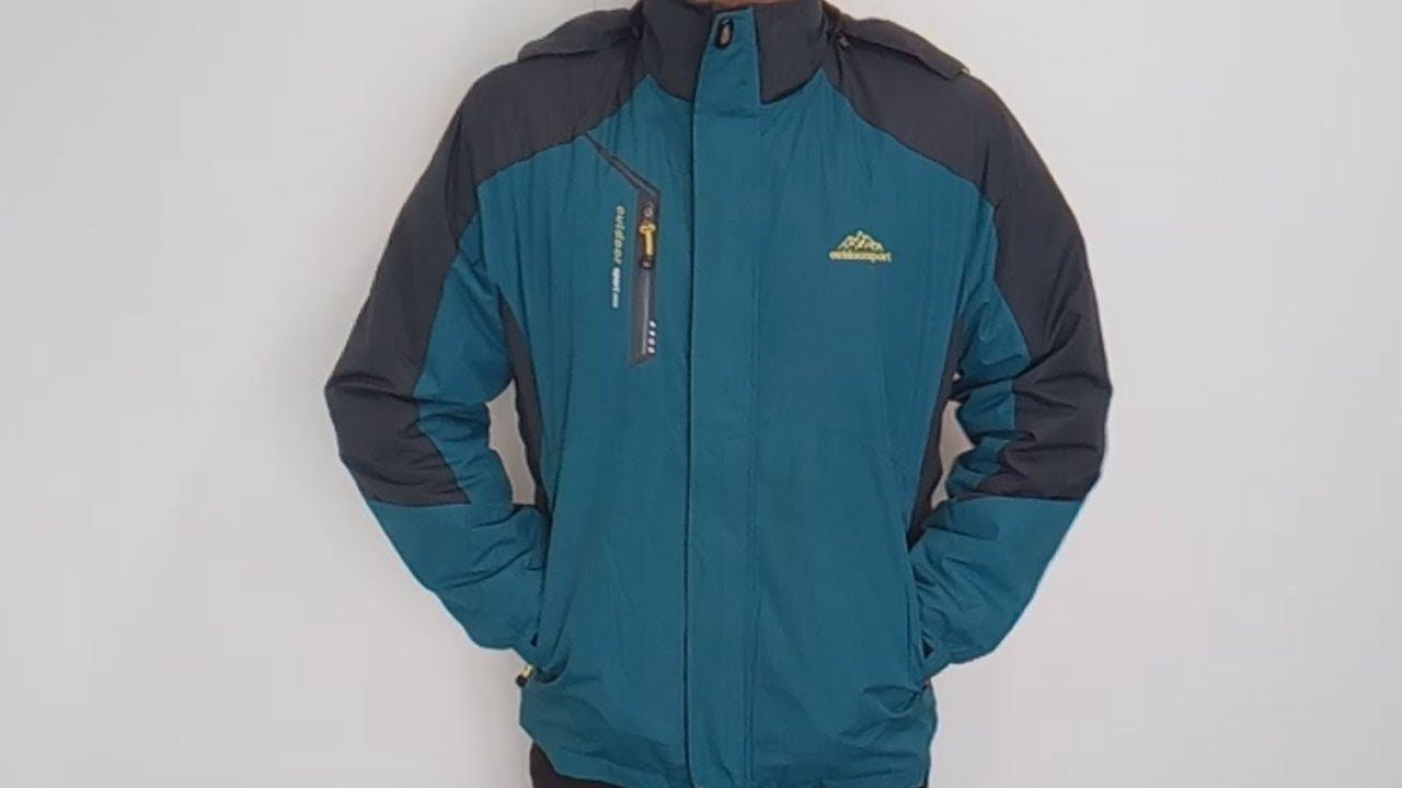 Зимняя мужская уличная куртка костюм 3 в 1 ветрозащитная Водонепроницаемая термокуртка