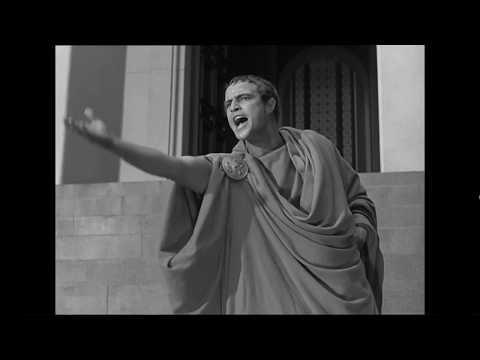 Julius Caesar 1953 - Mark Antony&39;s Forum speech starring Marlon Brando