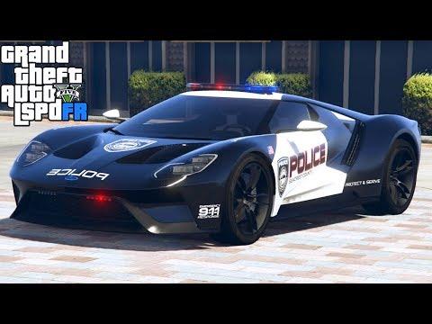 GTA 5|LSPDRF #164|POLICIA de ESTADOS UNIDOS - USA - con un FORD GT |EdgarFtw