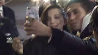 Millie Bobby Brown outside Late Show