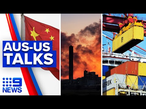 Australia to discuss China, climate and trade deals with US | 9 News Australia thumbnail