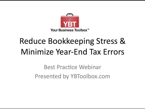 Top 5 Tips to Help Reduce Bookkeeping Stress and Year-End Tax Errors