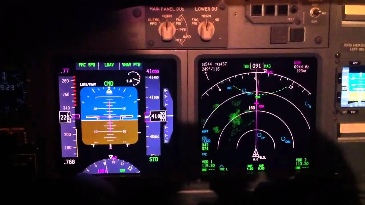 B737 800 Cruise At Night Youtube
