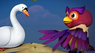 The Swan and The Owl Telugu Moral Story | Infobells