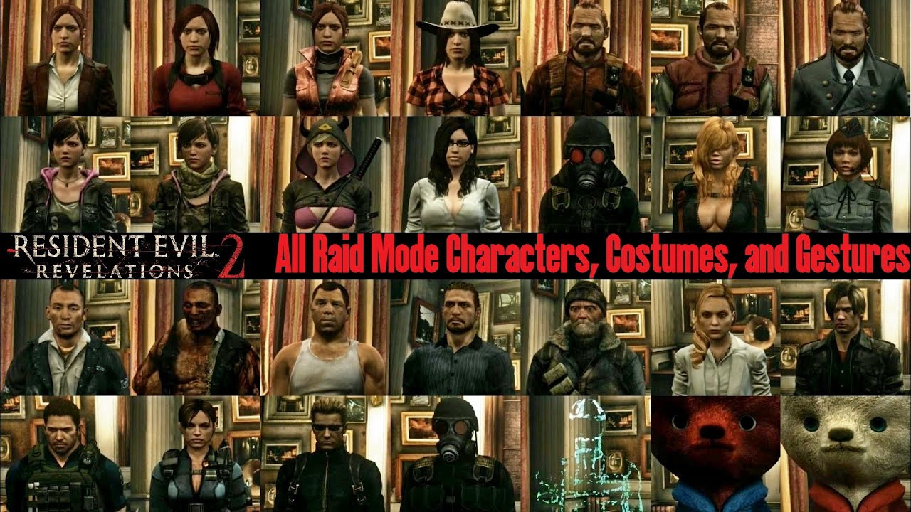 Resident evil 5 all costumes unlock