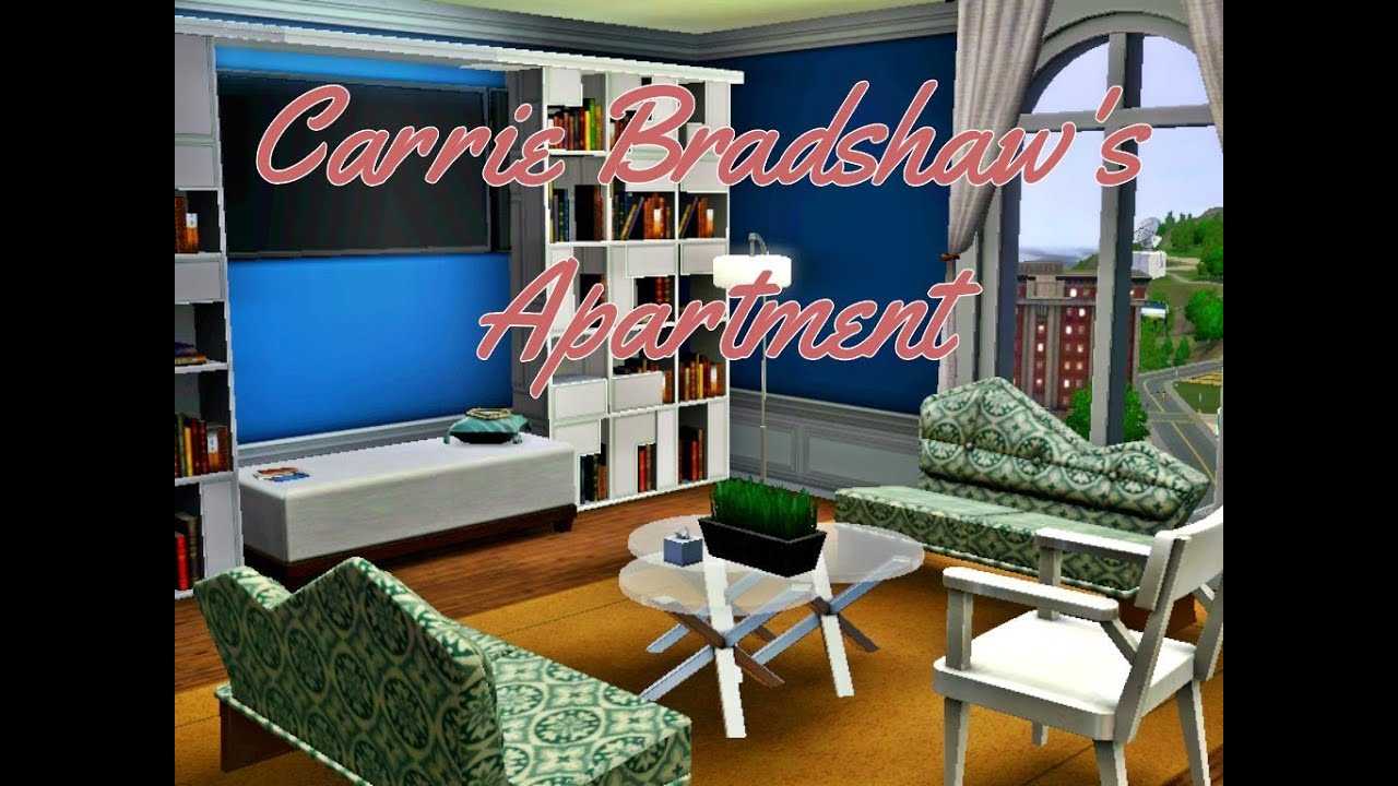 carrie bradshaw 39 s apartment sims 3 version youtube. Black Bedroom Furniture Sets. Home Design Ideas