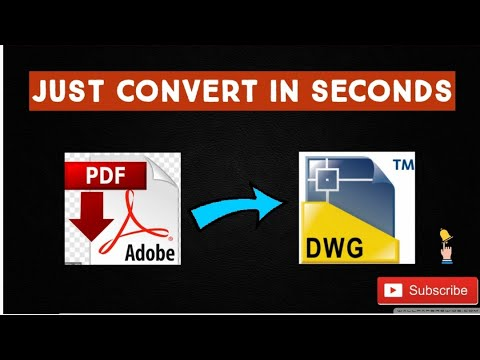 How to convert PDF to AutoCAD in just 2 minutes 😲