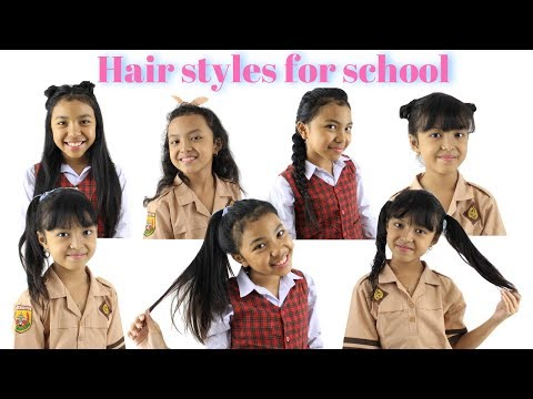 HAIR STYLES FOR SCHOOL ♥ Gaya Rambut Anak Sekolah