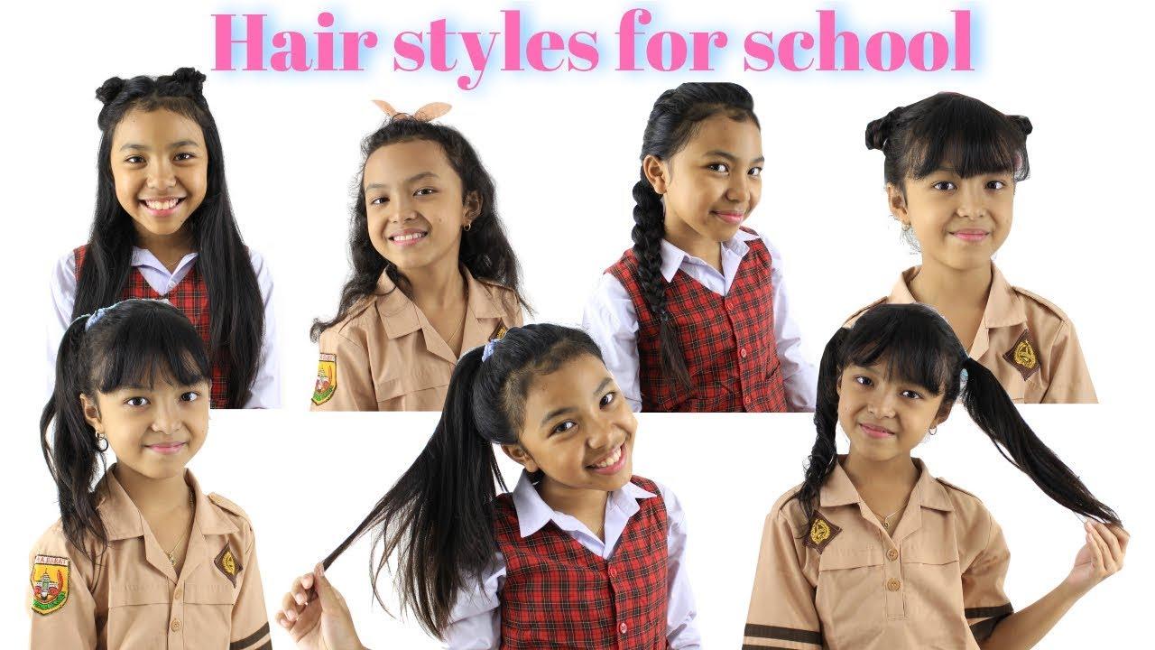 HAIR STYLES FOR SCHOOL ♥ Gaya Rambut Anak Sekolah - YouTube