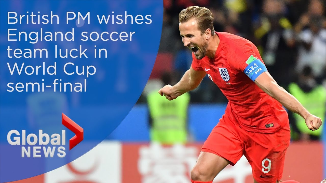 World Cup 2018: Theresa May sends support to England ahead of Croatia semi-final