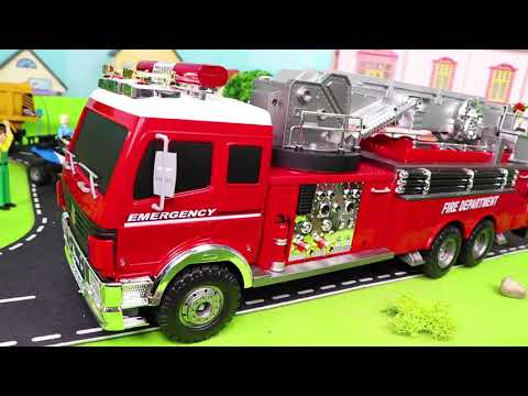 Fire Truck, Tractor, Police Cars, Trains, Excavator & Garbage Trucks RC Toy Vehicles for Kids
