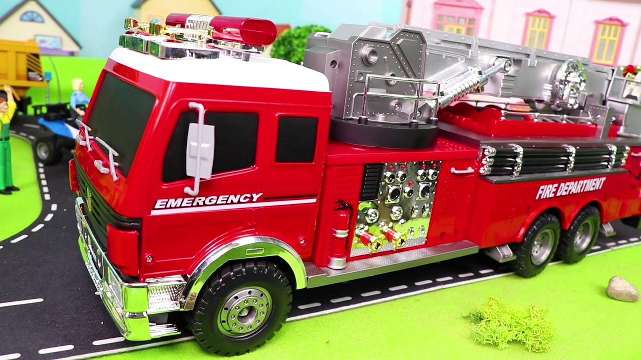 Fire Truck Tractor Police Cars Trains Excavator