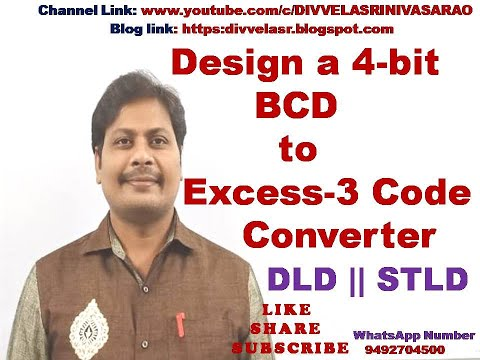 BCD TO EXCESS - 3 CODE CONVERTER | DESIGN OF  4-BIT BCD TO EXCESS-3 CODE CONVERTER | DLD | STLD |