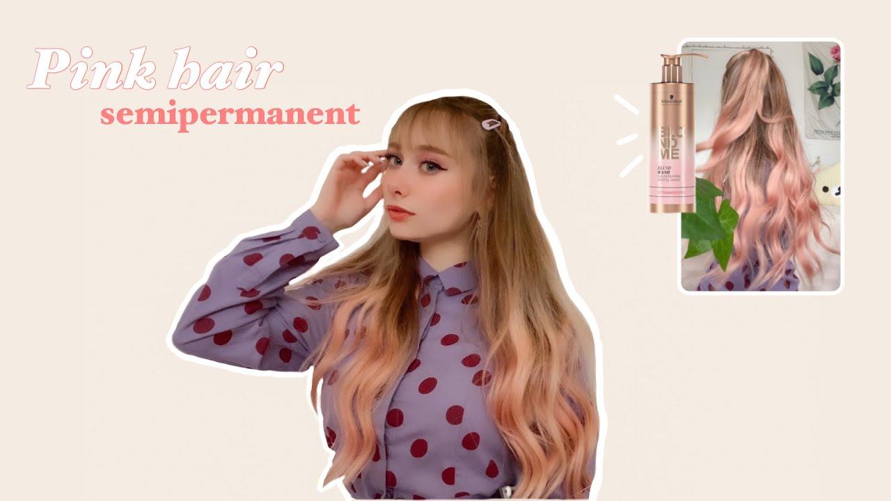 ʚ PINK HAIR : coloration semi permanente ɞ | Schwarzkopf BlondMe Strawberry