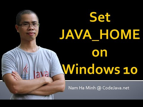 How to set JAVA_HOME environment variable on Windows 10