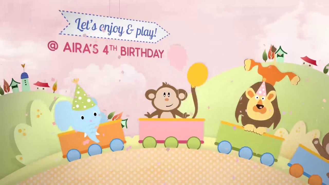 birthday party invitation card kids animal theme party youtube